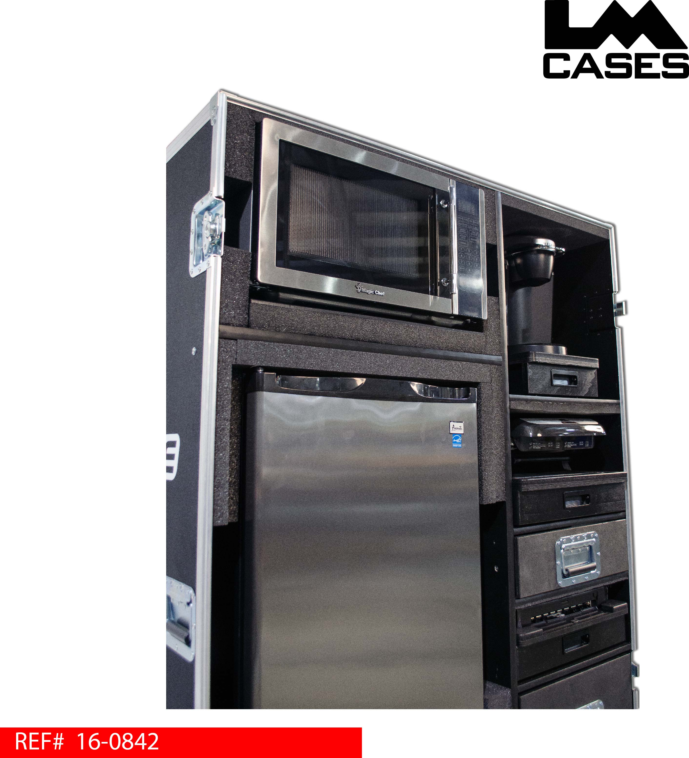 This Case Was Design For Q2Cue To Be A Mobile Kitchen For Touring  Productions. The Case Features A Refrigerator, Microwave, Commercial Grade  Keurig Beverage ...